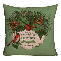 Christmas Graphic Decorative Square Throw Pillowcase -