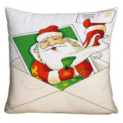 Santa Claus Creative Envelope Print Square Christmas Pillowcase -