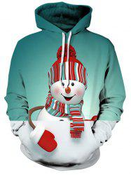 Christmas Snowman 3D Print Pullover Hoodie -