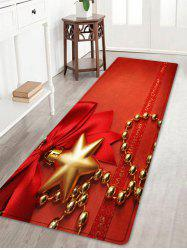 Christmas Bowknot Chain Pattern Anti-skid Water Absorption Area Rug -