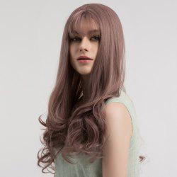 Long See-through Fringe Curly Synthetic Wig -