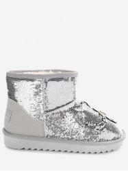 Sequined Rhinestone Spider Snow Boots -