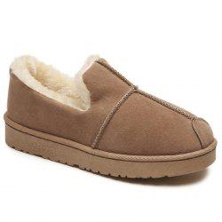 Round Toe Slip On Snow Boots -