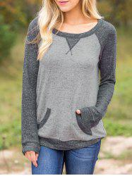 Marled Two Tone Baseball Tee -