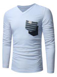Pockets Embellished Long Sleeve T-shirt -