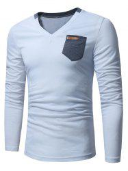 Pocket Embellished Long Sleeve T-shirt -