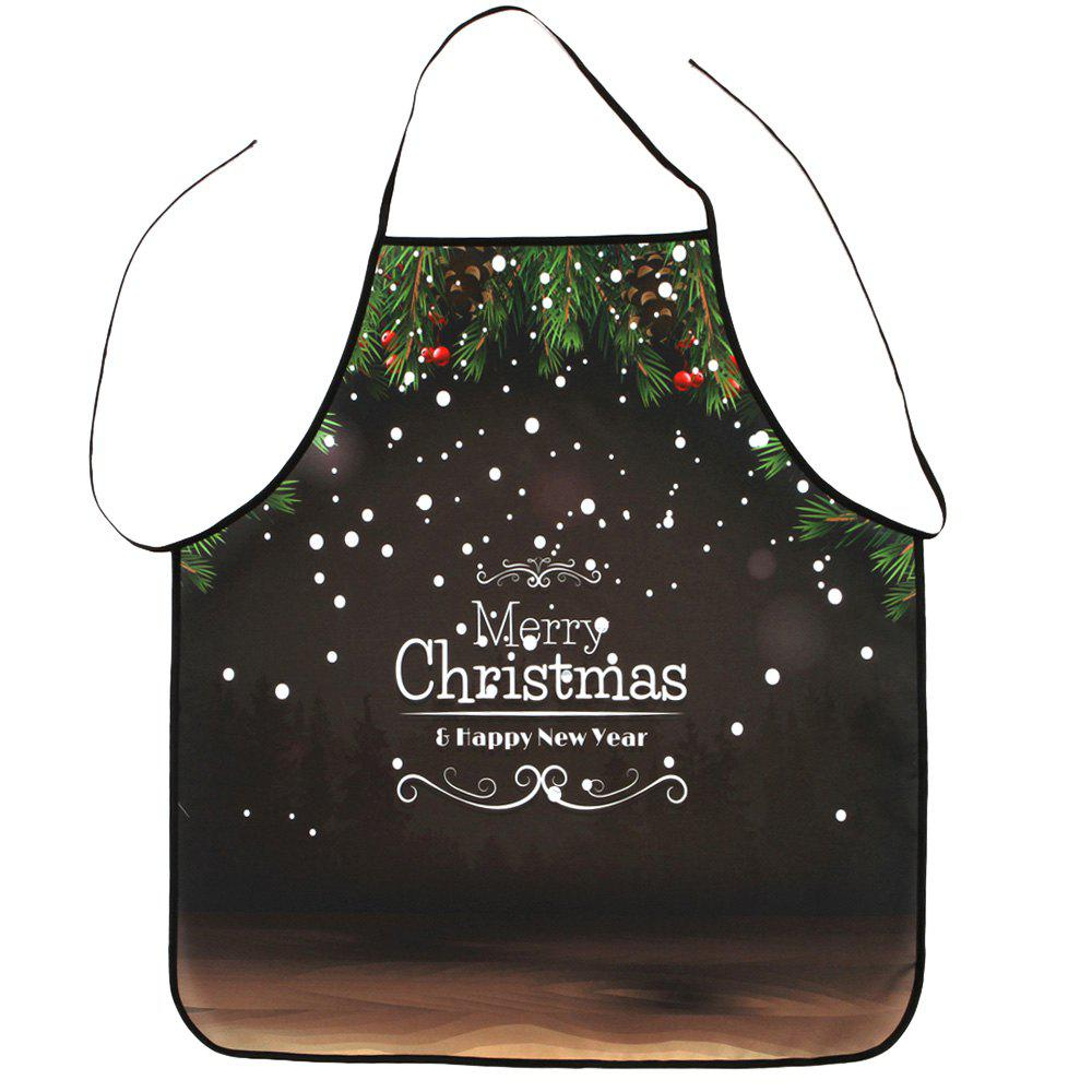 Merry Christmas Letter Print Waterproof ApronHOME<br><br>Size: 80*70CM; Color: DUN; Type: Apron; Material: Polyester; Pattern Type: Letter; Weight: 0.0800kg; Package Contents: 1 x Apron;