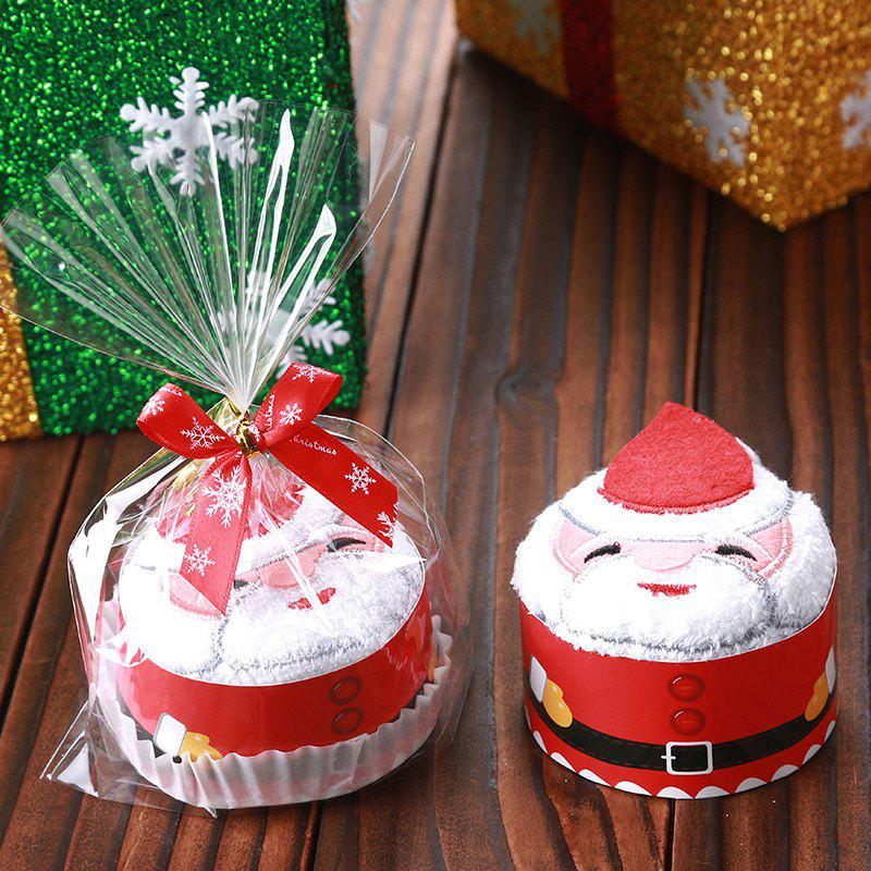 Christmas Santa Snowman Tree Shape Cupcake TowelHOME<br><br>Color: RED; Event &amp; Party Item Type: Party Decoration; Occasion: Christmas; Material: Polyester; Weight: 0.0600kg; Package Contents: 1 x Cupcake Towel;