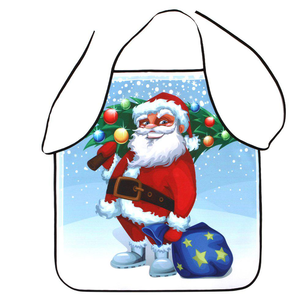 Santa Claus Pattern Polyester Waterproof Christmas ApronHOME<br><br>Size: 80*70CM; Color: COLORMIX; Type: Apron; Material: Polyester; Weight: 0.0800kg; Package Contents: 1 x Apron;