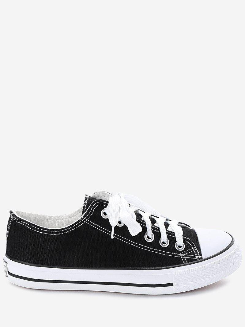 Affordable Stitching Tie Up Canvas Shoes