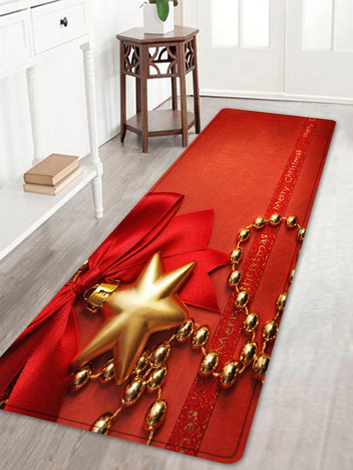 Cheap Christmas Bowknot Chain Pattern Anti-skid Water Absorption Area Rug