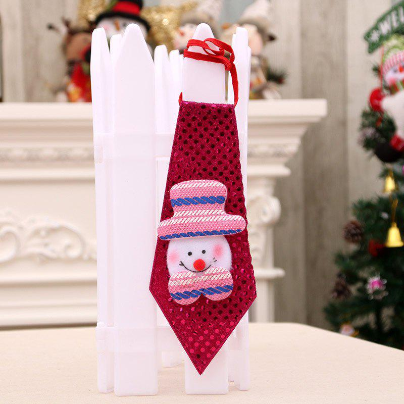 Christmas Hanging Decorations LED Lights Neck TieHOME<br><br>Color: RED; Event &amp; Party Item Type: Party Decoration; Occasion: Christmas; Voltage(V): 3V; Material: Polyester; Size(L*W)(CM): 20*8cm; Weight: 0.0400kg; Package Contents: 1 x LED Neck Tie;