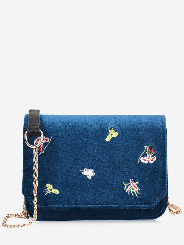 Store Chain Flowers Embroidery Crossbody Bag