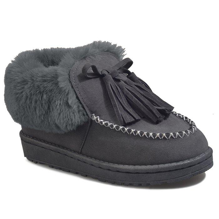 Outfit Sewing Faux Fur Tassels Ankle Boots