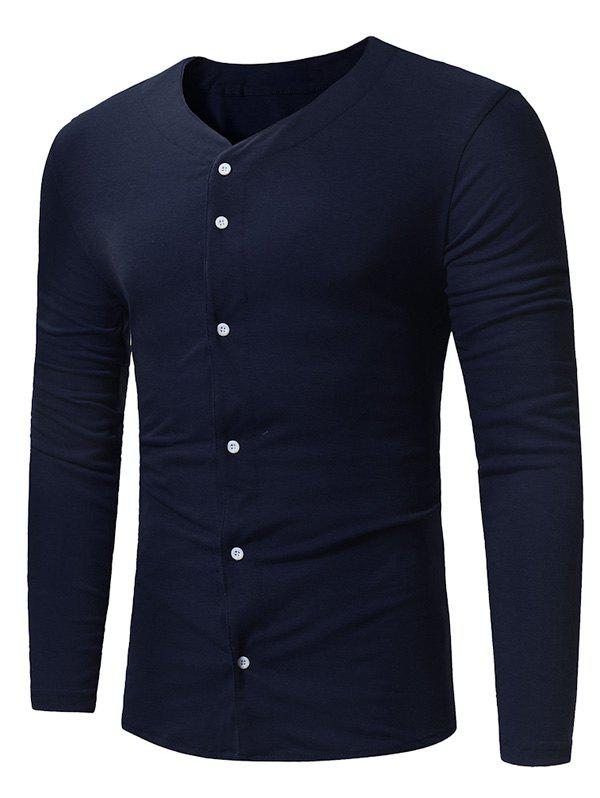 Sale Button Up Long Sleeve T-shirt