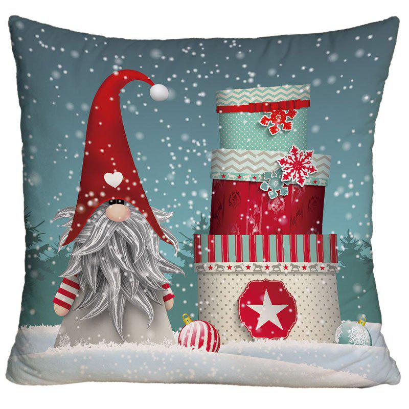 Ugly Santa Claus Christmas Gift Print Square Decorative PillowcaseHOME<br><br>Size: W18 INCH * L18 INCH; Color: COLORMIX; Material: Polyester / Cotton; Pattern: Gift,Santa Claus; Style: Festival; Shape: Square; Weight: 0.1000kg; Package Contents: 1 x Pillowcase;
