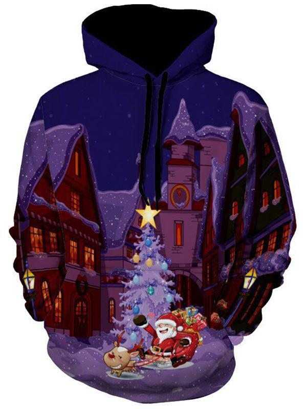 Castle Santa Clause 3D Print Christmas HoodieMEN<br><br>Size: 3XL; Color: COLORMIX; Material: Polyester; Clothes Type: Hoodie; Shirt Length: Regular; Sleeve Length: Full; Style: Novelty; Patterns: 3D,Print; Thickness: Regular; Occasion: Casual ,Daily Use,Going Out; Weight: 0.5500kg; Package Contents: 1 x Hoodie;