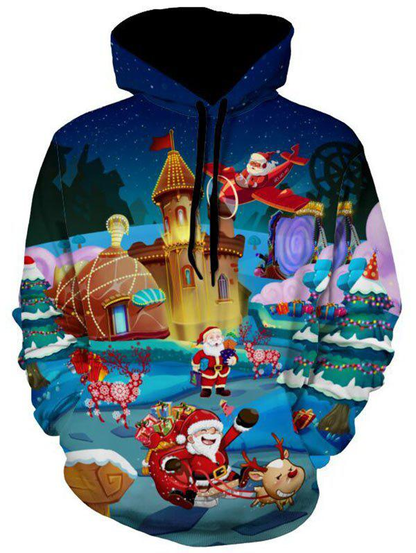 3D Print Santa Clause Christmas HoodieMEN<br><br>Size: L; Color: COLORMIX; Material: Polyester; Clothes Type: Hoodie; Shirt Length: Regular; Sleeve Length: Full; Style: Fashion; Patterns: 3D,Print; Thickness: Regular; Occasion: Casual ,Daily Use,Going Out; Weight: 0.5500kg; Package Contents: 1 x Hoodie;