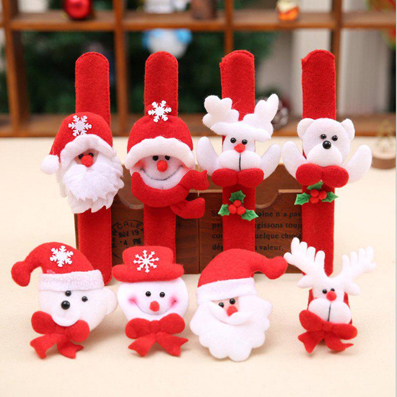Santa Claus and Cartoon Animal Decorated BraceletHOME<br><br>Color: RANDOM COLOR PATTERN; Event &amp; Party Item Type: Party Decoration; Occasion: Chinese New Year,Christmas,New Year,Party; Material: Polyester; Weight: 0.0352kg; Package Contents: 1 x Bracelet;