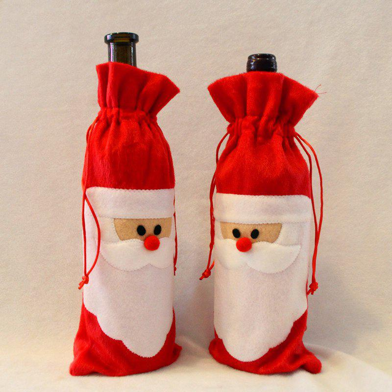 10Pcs Santa Claus Christmas Wine Bottle Cover BagsHOME<br><br>Color: RED; Event &amp; Party Item Type: Party Decoration; Occasion: Chinese New Year,Christmas,New Year,Party; Material: Polyester; Width: 13CM; Length: 31CM; Weight: 0.2500kg; Package Contents: 10 x Wine Bottle Cover Bags;