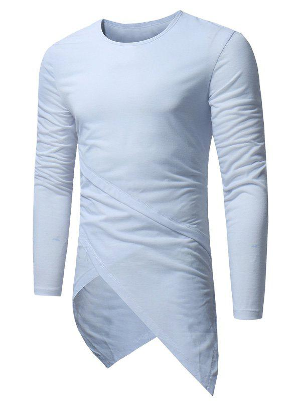 Best Long Sleeve Longline Asymmetric T-Shirt