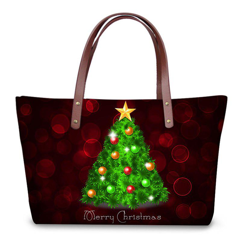 3D Prints Christmas Shoulder BagSHOES &amp; BAGS<br><br>Color: DEEP RED; Handbag Type: Shoulder bag; Style: Fashion; Gender: For Women; Pattern Type: Print; Handbag Size: Medium(30-50cm); Closure Type: Zipper; Occasion: Versatile; Main Material: Polyester; Weight: 1.2000kg; Package Contents: 1 x Shoulder Bag;