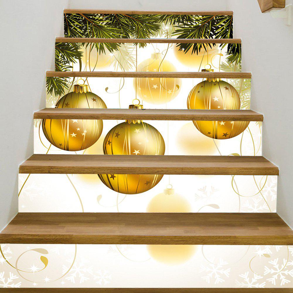 Christmas Pine Balls Pattern Decorative Stair StickersHOME<br><br>Size: 100*18CM*6PCS; Color: COLORMIX; Wall Sticker Type: Plane Wall Stickers; Functions: Stair Stickers; Theme: Christmas; Pattern Type: Ball; Material: PVC; Feature: Removable; Weight: 0.3600kg; Package Contents: 1 x Stair Stickers;