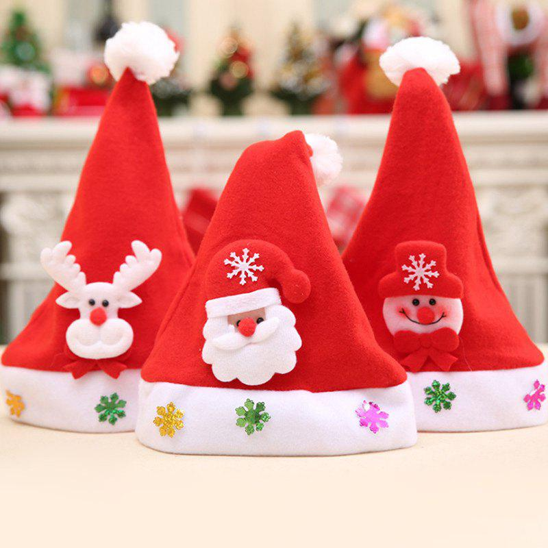 Different Ornaments Christmas Hat For KidsHOME<br><br>Color: RANDOM COLOR PATTERN; Event &amp; Party Item Type: Party Decoration; Occasion: Chinese New Year,Christmas,New Year,Party; Material: Polyester; Weight: 0.0500kg; Package Contents: 1 x Hat;