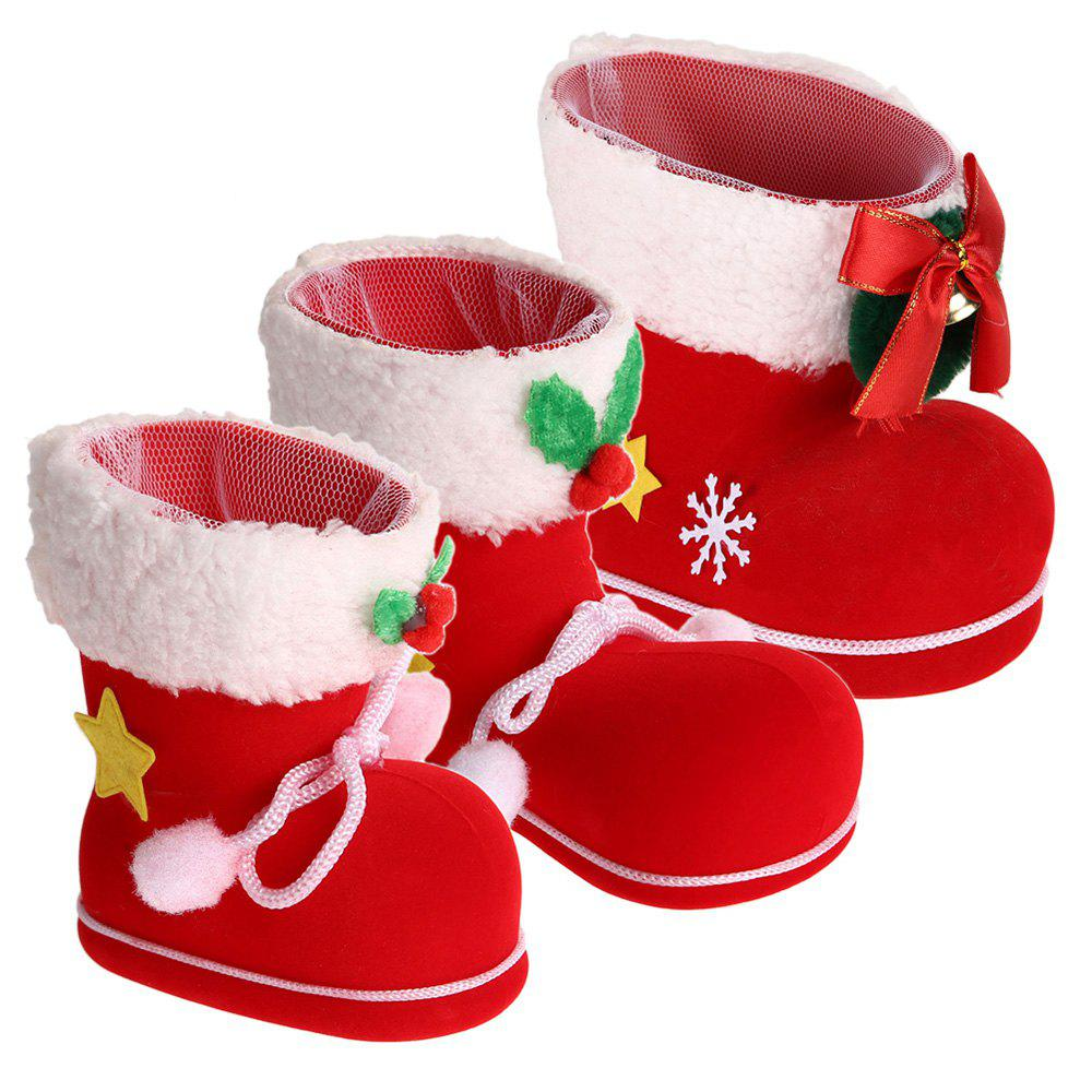 Shops 3 PCS Different Size Christmas Shoes Gift Boxes