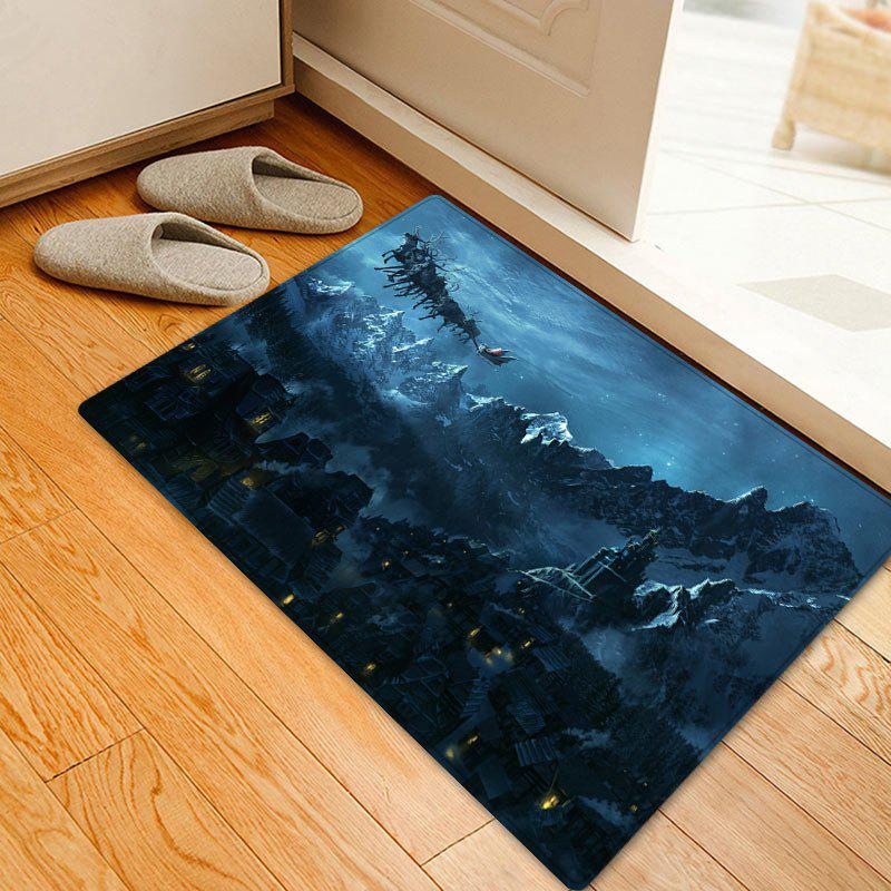 Christmas Mountains Night Pattern Anti-skid Water Absorption Area Rug - W20 Inch * L31.5 Inch