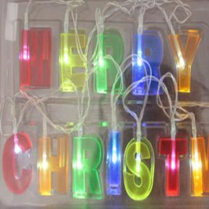 LED Merry Christmas Letters Shaped Decorations String Lights -