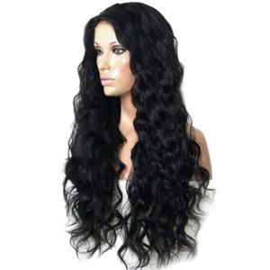 Long Side Parting Shaggy Body Wave Synthetic Wig -