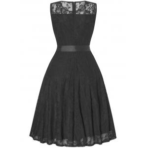 Sleeveless Swing Lace Party Dress -