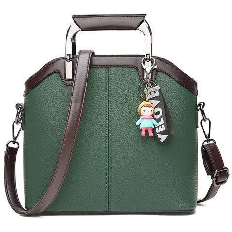 Outfits Letter Cartoon Pendant Contrasting Color Crossbody Bag