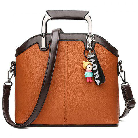 New Letter Cartoon Pendant Contrasting Color Crossbody Bag