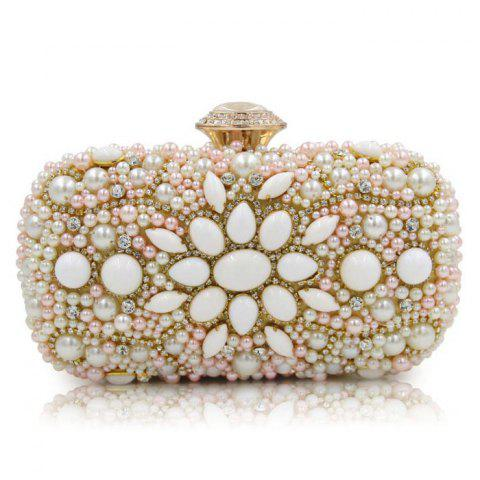 Fancy Rhinestone Faux Pearl Evening Bag