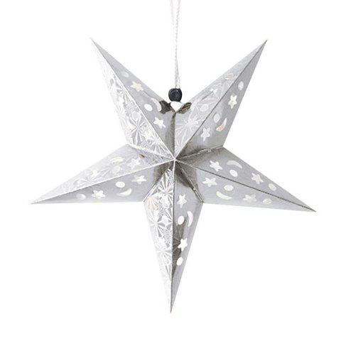 Outfit 10Pcs Star Shape Christmas Party Laser Hang Decorations