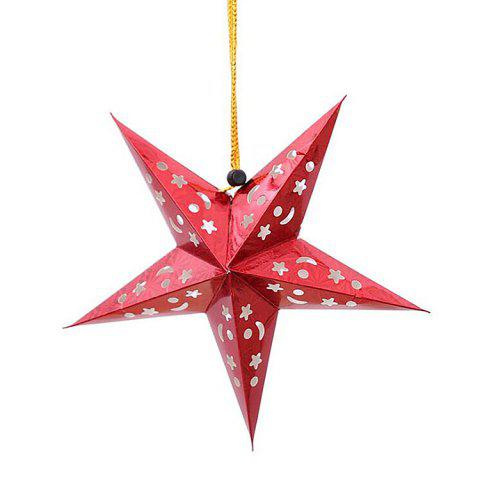 Cheap 10Pcs Star Shape Christmas Party Laser Hang Decorations