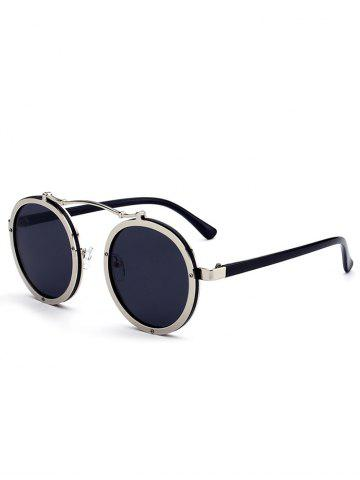 Shop Vintage Crossbar Embellished Round Sunglasses