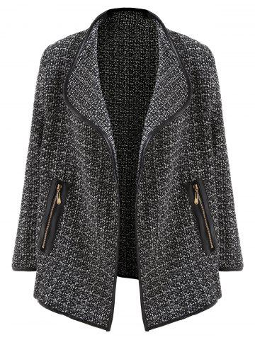 Outfit Tweed Open Front Blazer