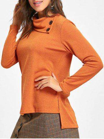 High Low Cowl Neck Tunic Sweater