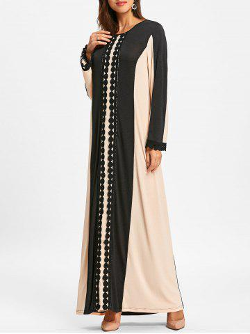 Shops Color Block Lace Insert Arabic Maxi Dress