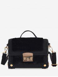 Studs Splicing PU Leather Crossbody Bag -