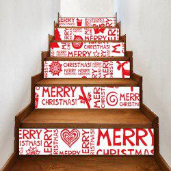 Christmas Letters Ornaments Print Home Stairs Stickers 6pcs