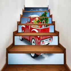Christmas Car Gifts Pattern Decorative Stair Stickers