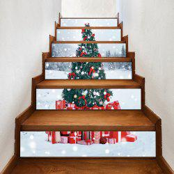 Christmas Tree Presents Pattern Decorative Stair Stickers