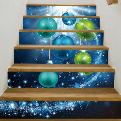 Christmas Star Baubles Pattern Decorative Stair Stickers