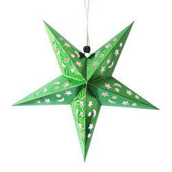 10Pcs Star Shape Christmas Party Laser Hang Decorations -