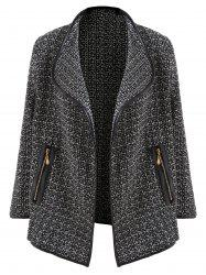 Tweed Open Front Blazer -