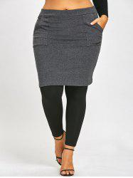 Plus Size Skirted Leggings -